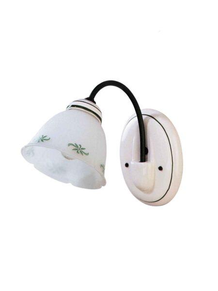 Applique in Vetro e Ceramica Decorata a Mano