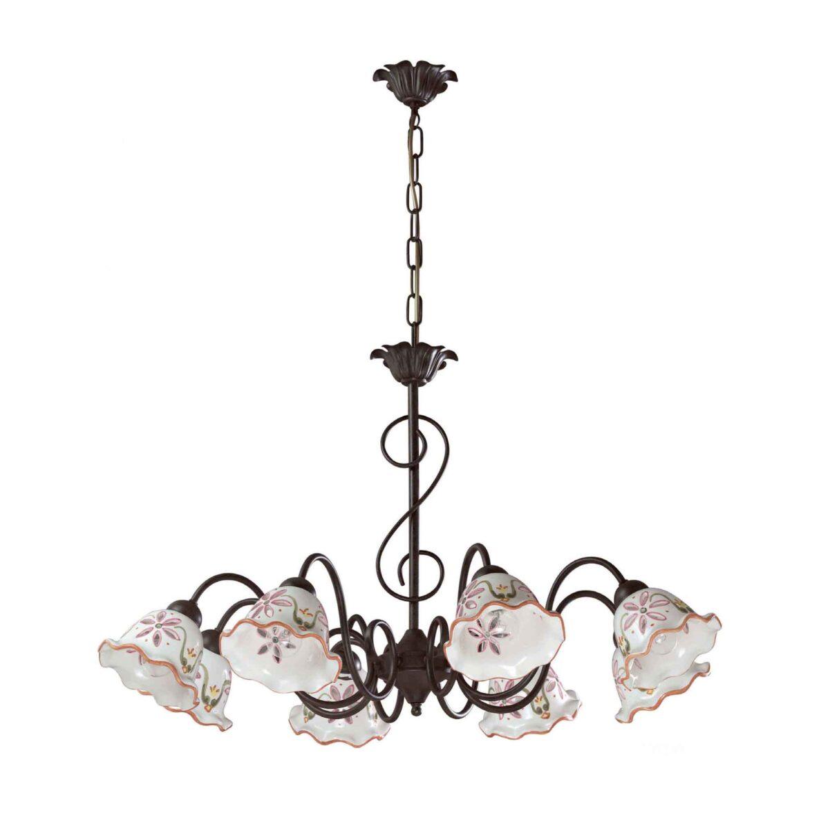fabbrica lampadari : home shop lampadari lampadari in ceramica lampadari fabbrica napoli ...
