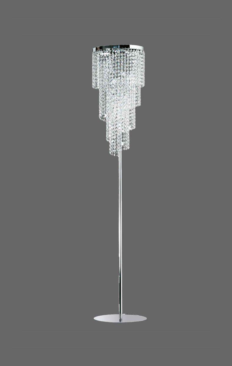 Lampada da terra piantana cristallo strass la luce del for Piantane da terra ikea