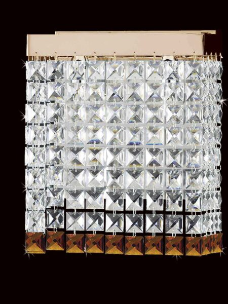 Applique Salotto Strass Cristallo Oro