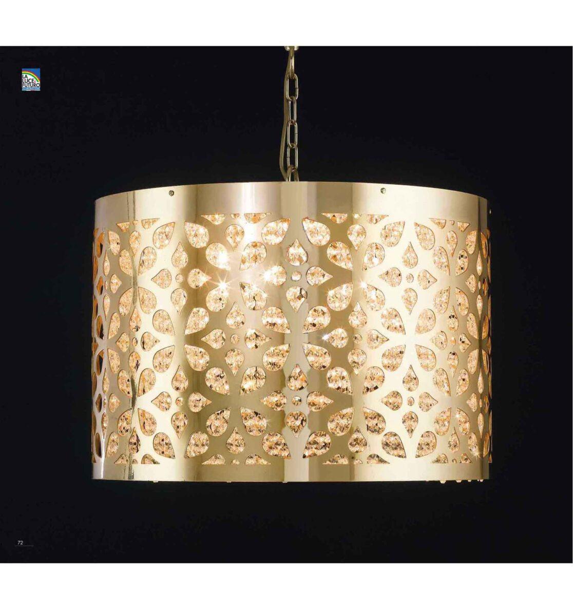 Lampadari oro lucido e design lampadari d 39 arredo cm 80 for Lampadari d arredo