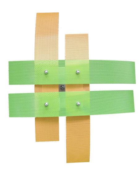 Plafoniera 4 Luci Per Camerette Giallo Verde