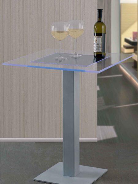 Tavolo Led RGB in Plexiglass per Ristoranti