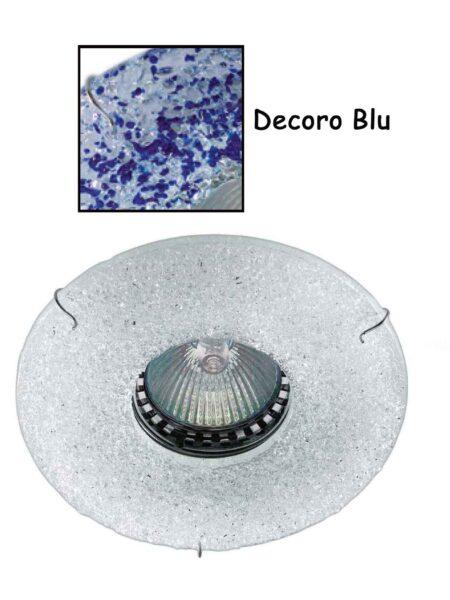 Faretto Incasso Vetro Fuso Blu Made Italy