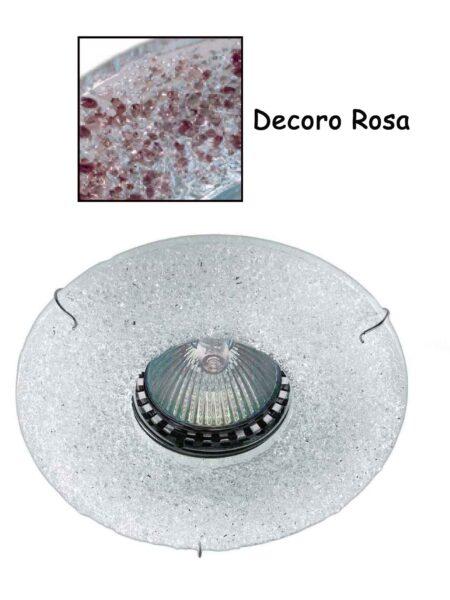 Faretto Incasso Vetro Fusione Rosa Made Italy