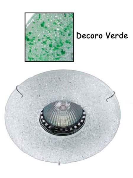 Faretto Incasso Vetro Fusione Verde Made Italy