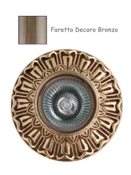 Faretto Classico Lavorato Fusione Decoro Bronzo