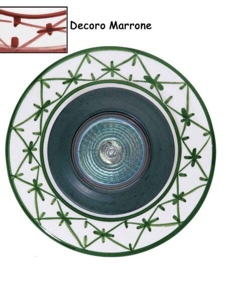 Faretto Incasso Ceramica Artigianale Marrone