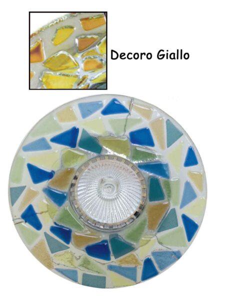 Faretto Vetro Fusione Incasso Giallo Made Italy