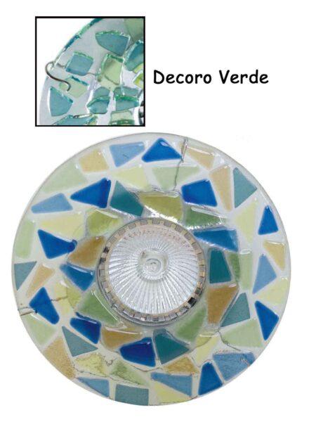 Faretto Vetro Fusione Incasso Verde Made Italy