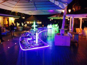 Cerimonie e tavoli componibili plexiglass luminosi