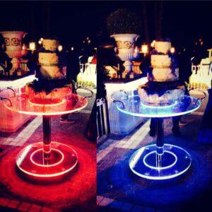Tavoli per cerimonie a led ricaricabili