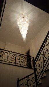 Vortice di cristallo per le scale