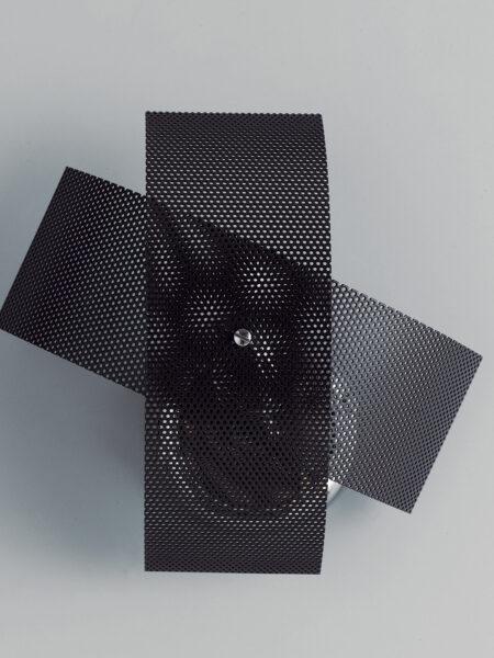 Applique Moderno Cromo Lucido Fasce Wengè