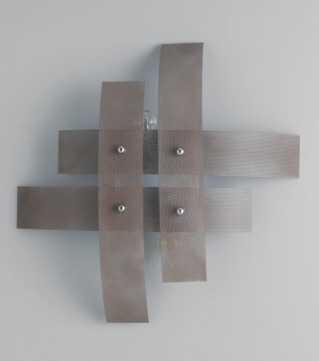 Plafoniera moderna 4 luci tortora la luce del futuro for Plafoniera moderna