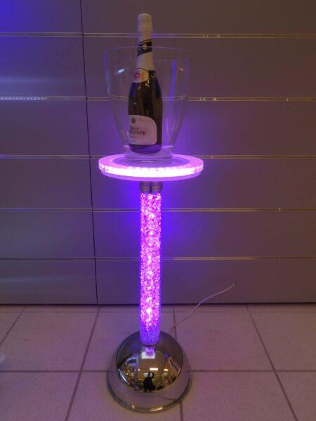 Colonna Porta Champagne Luce Led Strass