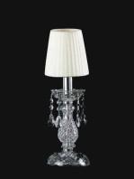 Lampade da Comodino Cristallo Paralume Organza Bianco