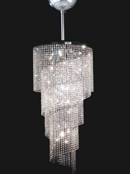 Lampadario Camera Letto Cromo Strass