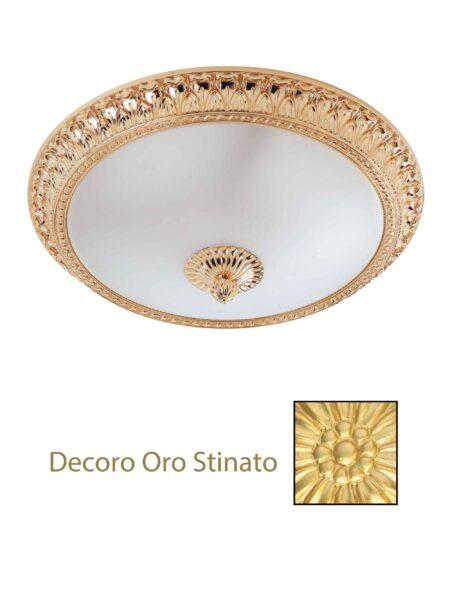 Plafoniera Oro Satinato Ottone Lavorato cm 40
