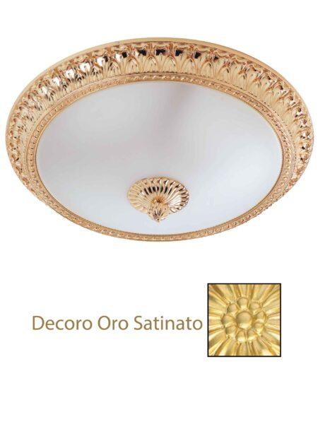 Plafoniera Oro Satinato Ottone Lavorato cm 50