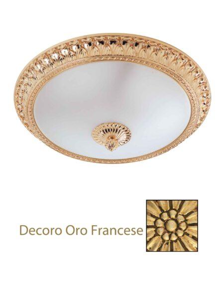 Plafoniera Oro Francese Ottone Lavorato cm 40