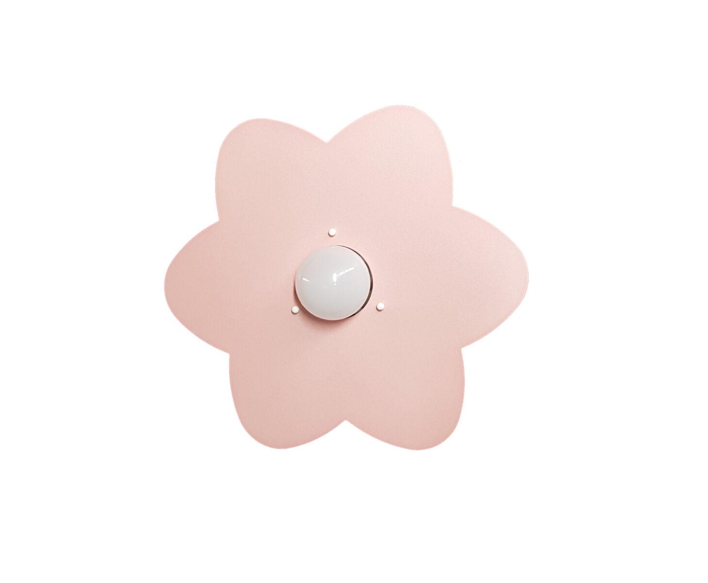 Applique rosa fiore camerette bambini la luce del futuro