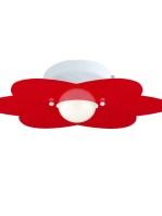 Plafoniera Fiore Rosso Cameretta Bambini