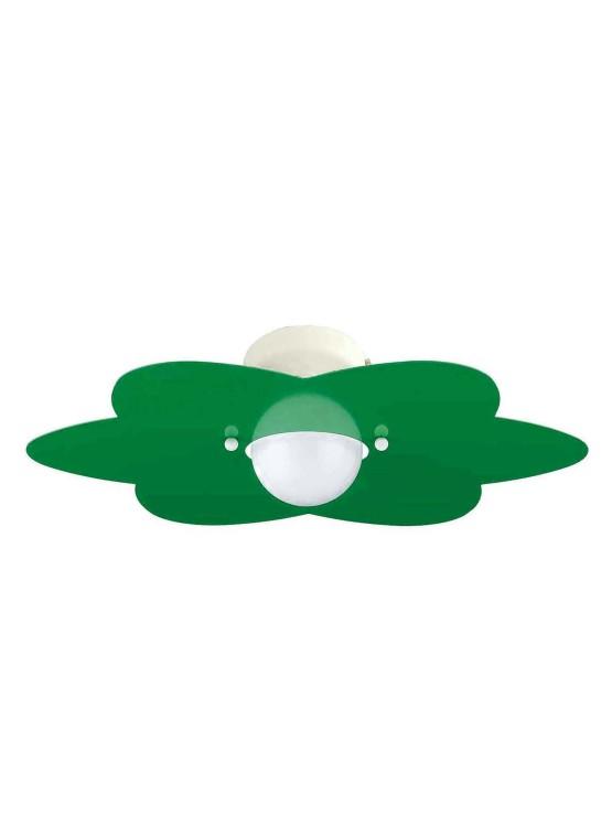 Applique Verde Mela Fiore Camerette Bambini
