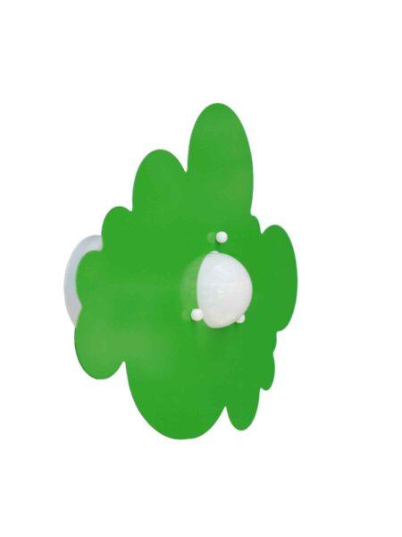 Applique Plafoniera Verde Mela Nuvola Cameretta Bambini