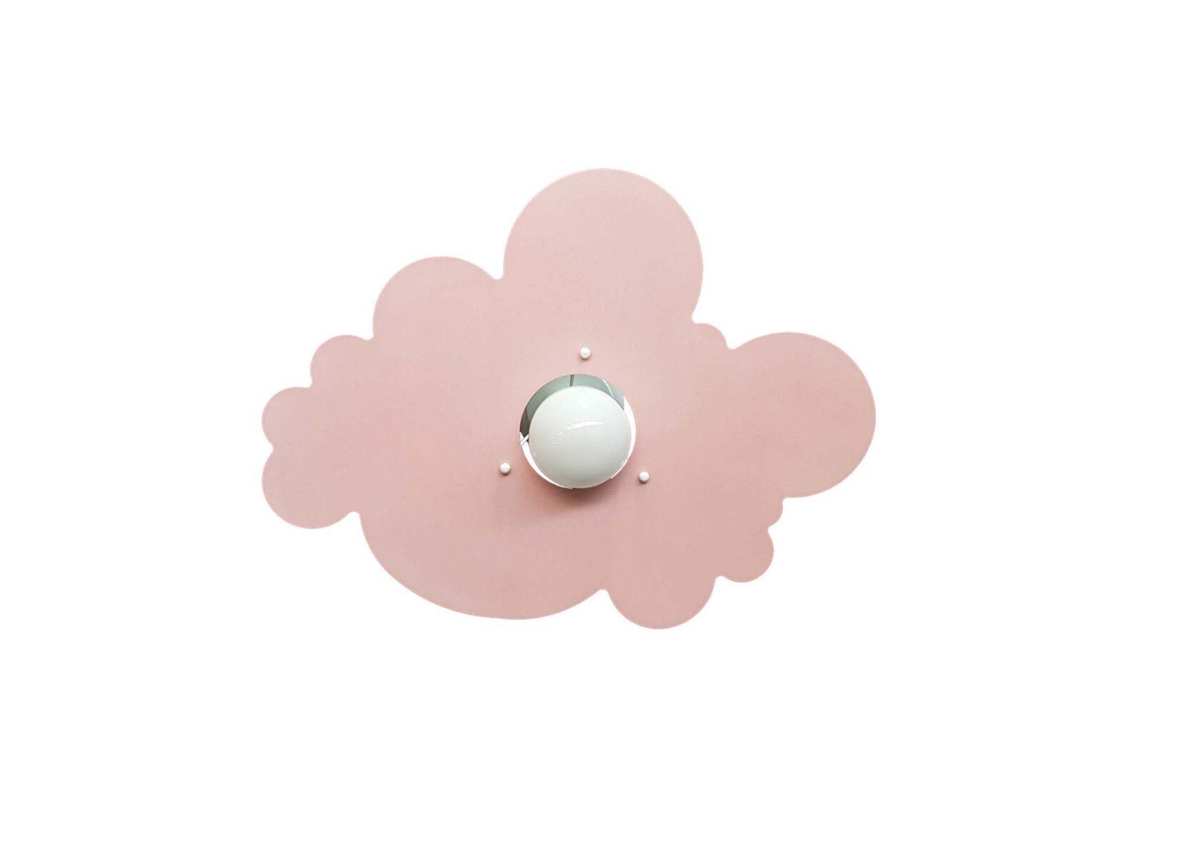 Plafoniera Cameretta Bambino : Plafoniera nuvola rosa camerette bambini