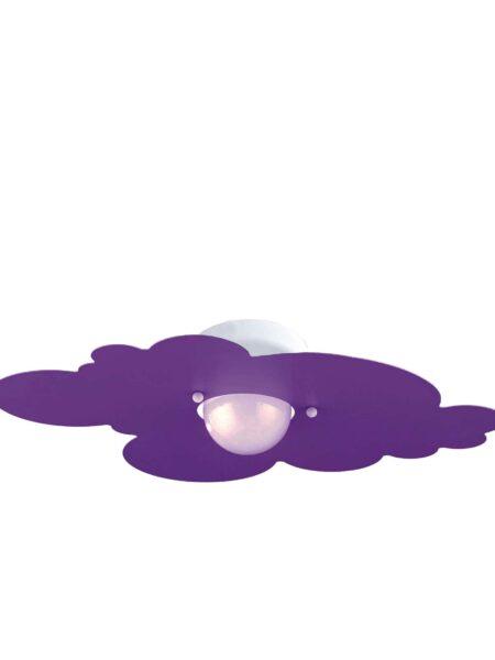 Plafoniera Nuvola Glicine Camerette Bambini