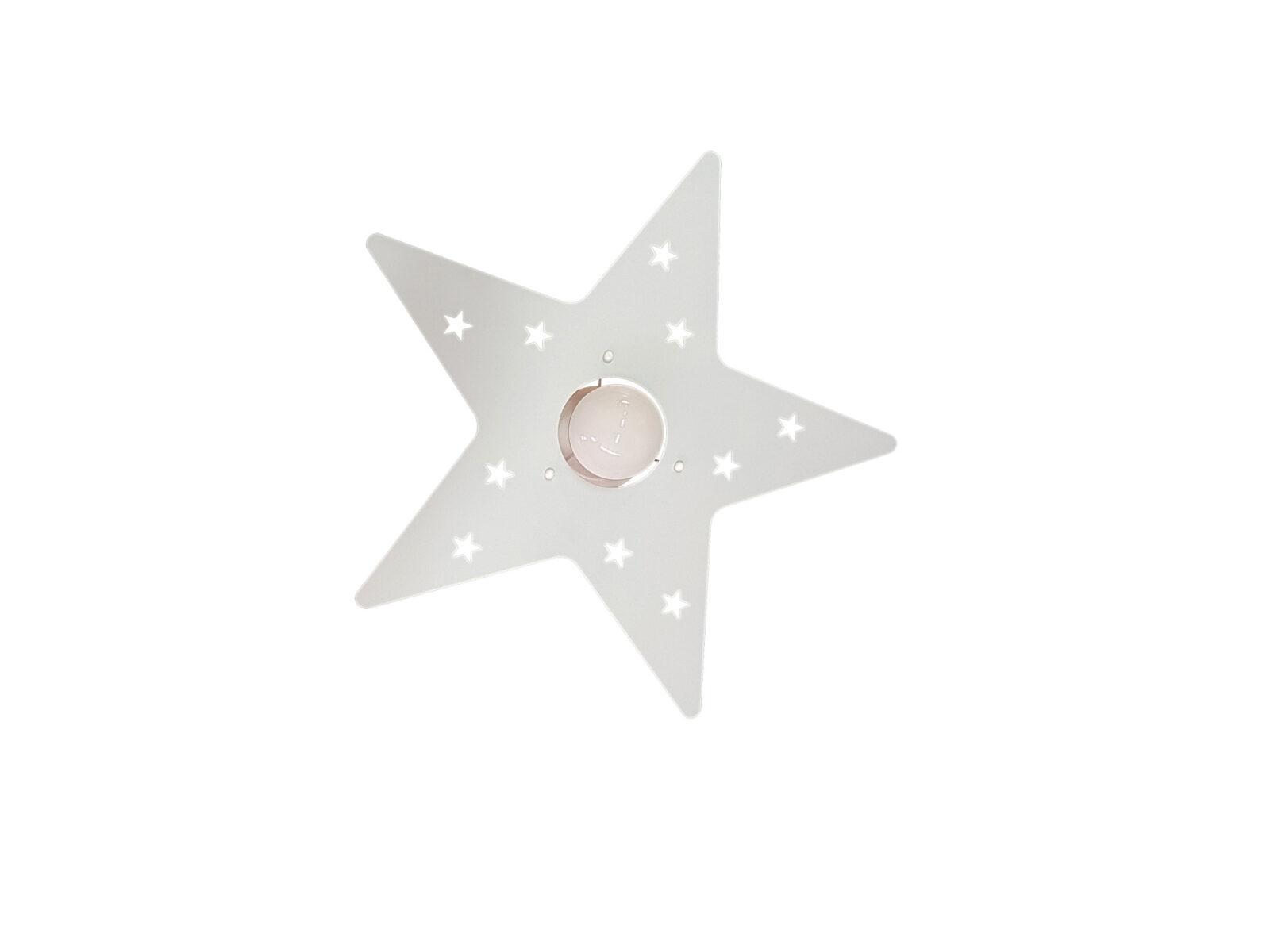 Plafoniere Camerette Ragazzi : Plafoniera lampadario stella bianco camerette bambini la luce