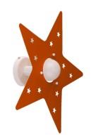 Applique Arancione Stella Camerette Bambini