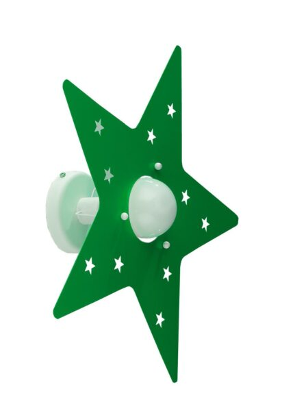Applique Verde Mela Stella Camerette Bambini
