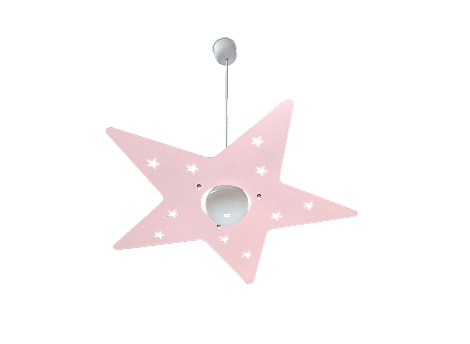 Lampadario Rosa Cameretta : Lampadario sospensione rosa stella camerette bambini la luce del
