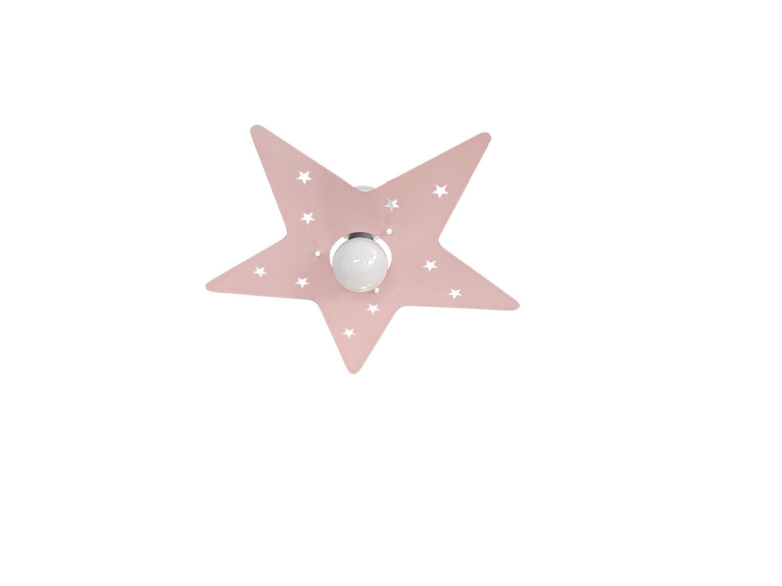 Plafoniere Camerette Bambini : Plafoniera rosa stella camerette bambini la luce del futuro