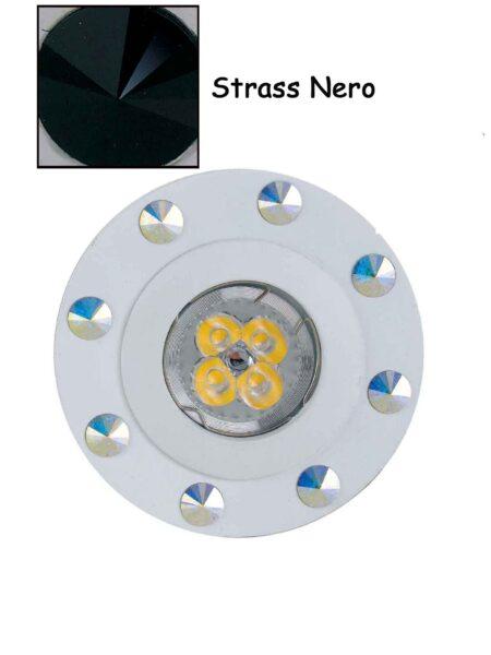 Faretto Incasso Strass Swarovski Bianco Strass Nero