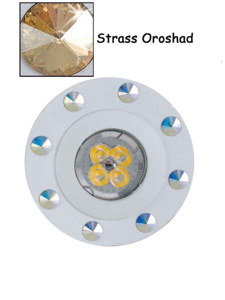 Faretto Incasso Strass Swarovski Bianco Oroshad