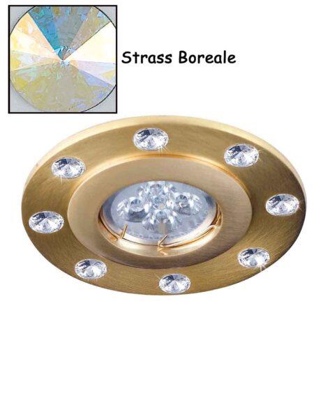 Faretto Incasso Strass Swarovsky Oro Satinato Boreale