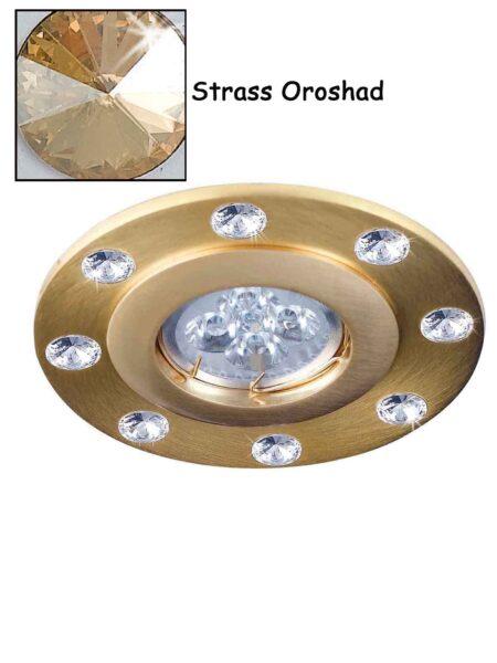Faretto Strass Swarovsky Oro Satinato Oroshad