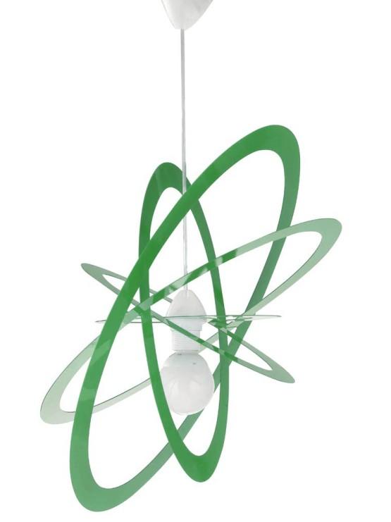 Lampadario sospensioni camerette bambini verde la luce del futuro - Lampadari x camerette bambini ...