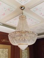 Lampadario Stile Impero Cristalli Strass diametro cm 80