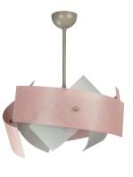 Lampadario Cameretta Rosa Bianco 6 Luci