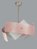 Lampadario Rosa Bianco 9 Luci Cameretta Salone Cucina