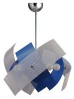 Lampadario Azzurro Bianco 9 Luci Cameretta Salone Cucina