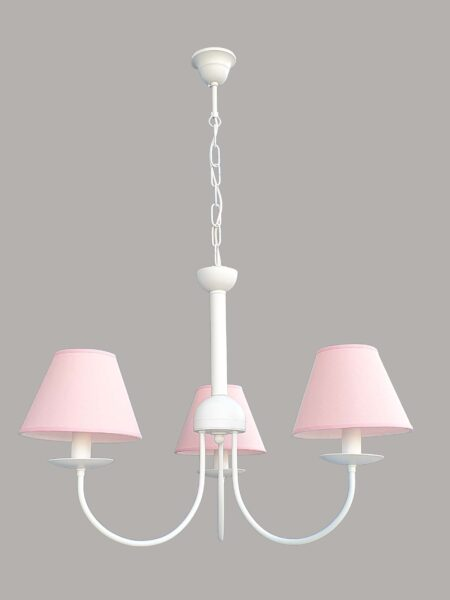 Lampadario per camerette paralumi rosa