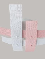 Plafoniera Rosa Bianco 4 Luci Moderna per Camerette