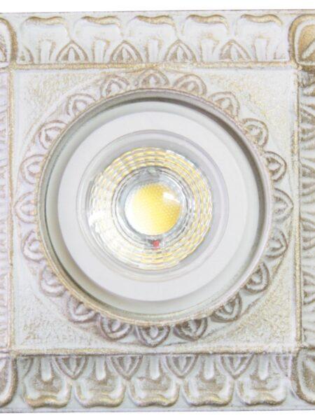 Faretti Bianco Oro Shabby Decorato a Mano