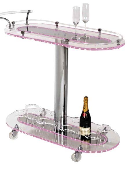 Carrelli Porta dolci per Cerimonie Plexiglass e Led