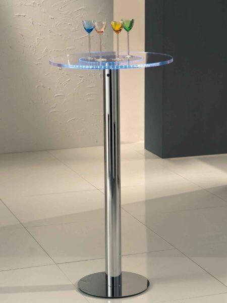 Tavolini Plexiglas Luce Led RGB per Alberghi